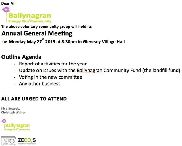 AGM 27th May 2013