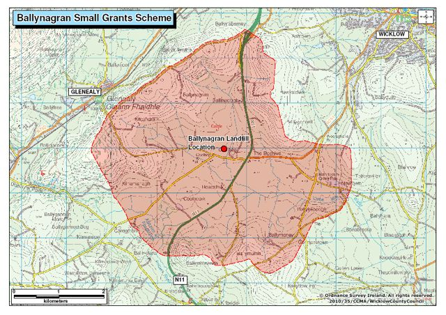 Area in which Ballynagran Small Grant Scheme applies